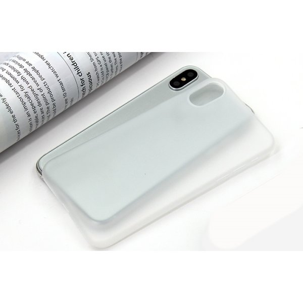 Twincase iPhone Xs case, transparent hvid
