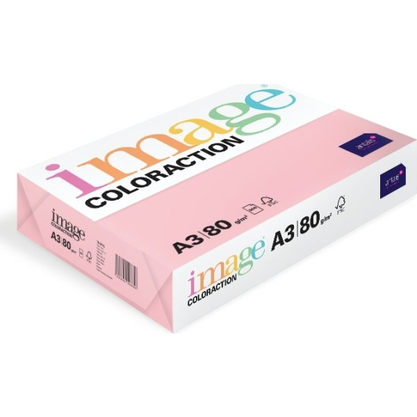 Image Coloraction A3, 80g, 500ark, lys rosa