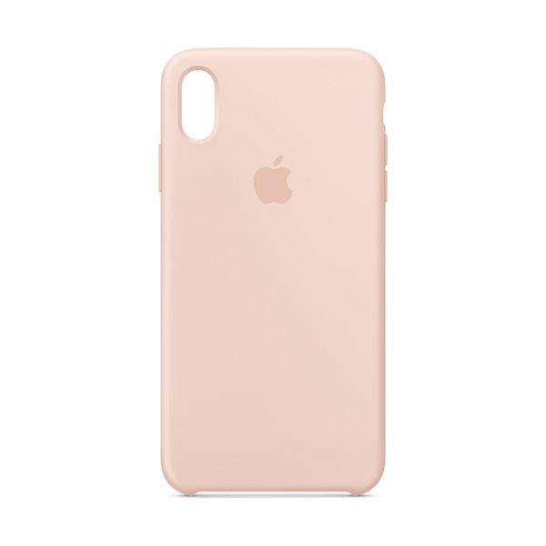 Apple cover til iPhone Xs Max i silikone, lyserød