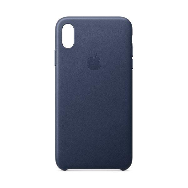 Apple cover til iPhone Xs Max i læder, midnatsblå