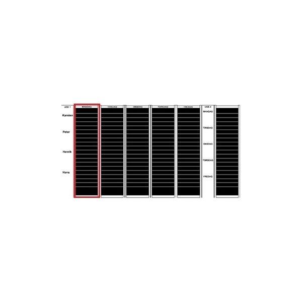 Plan-dex kortmodul A4 højformat 40mm, 15 stk