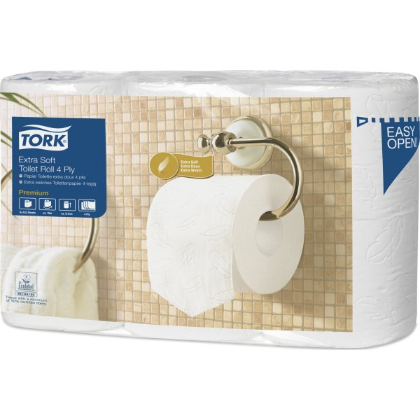 Tork T4 Premium toiletpapir, 4-lags, 42 ruller
