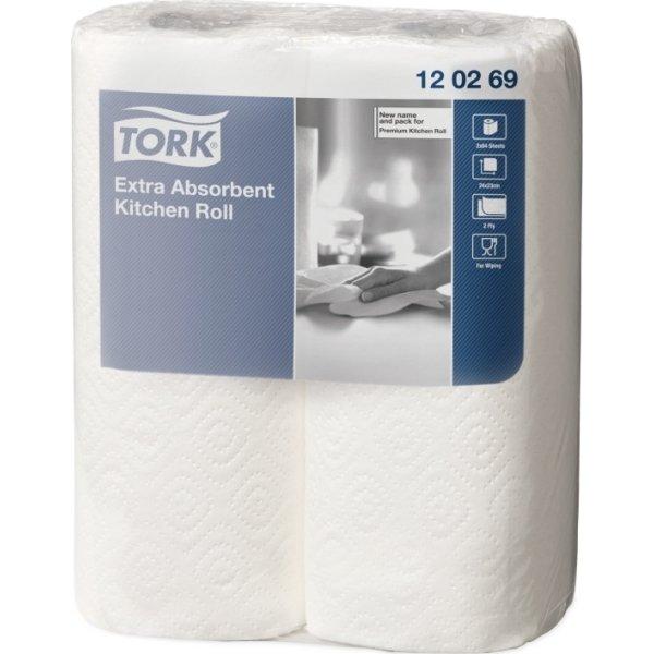 Tork Ekstra Plus køkkenrulle, 2-lags, 24 ruller
