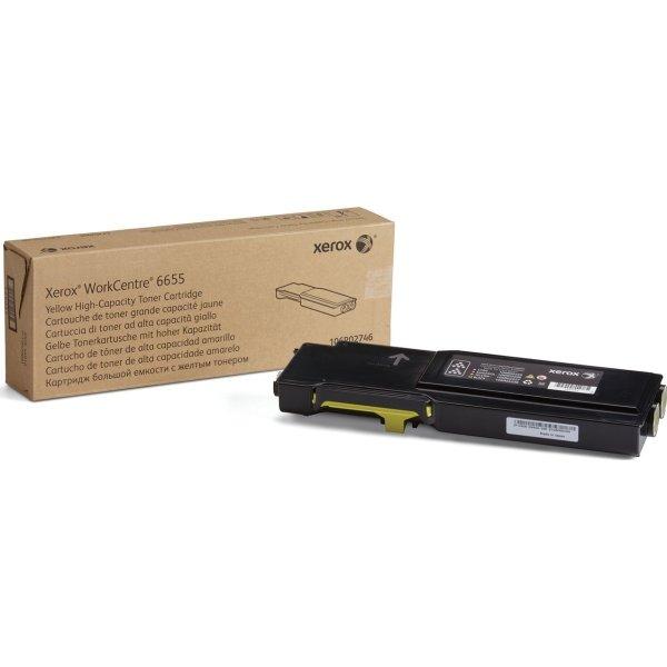 Xerox WC6655 lasertoner, gul, 7000s