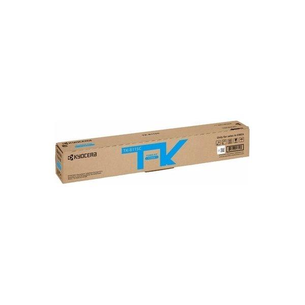 Kyocera TK-8115C lasertoner, cyan, 6000s