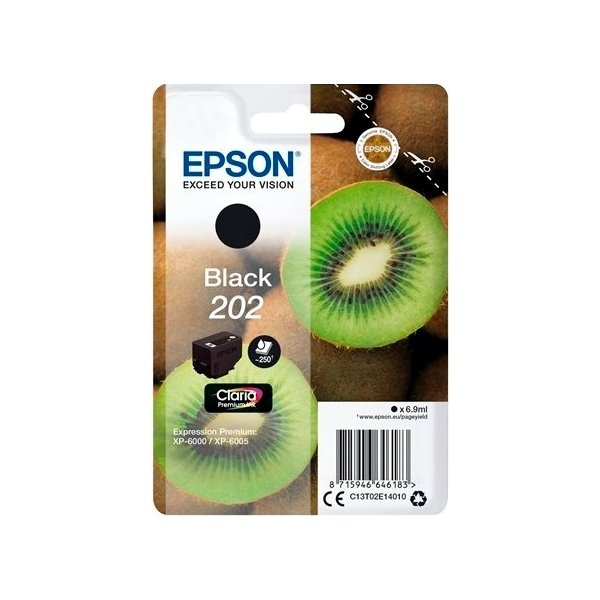 Epson T202 blækpatron, sort