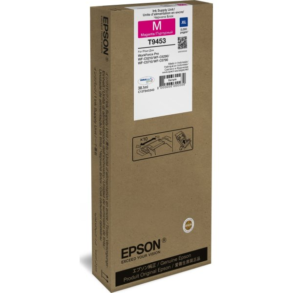 Epson T9453 XL blækpatron, magenta, 5000s