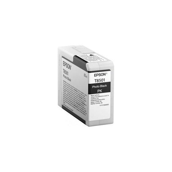 Epson T8501 blækpatron, fotosort, 80ml