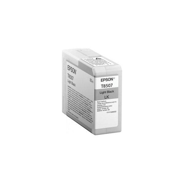 Epson T8507 blækpatron, lys sort, 80ml
