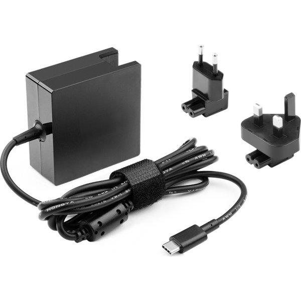 MicroBattery USB-C strømadapter, sort, 45W