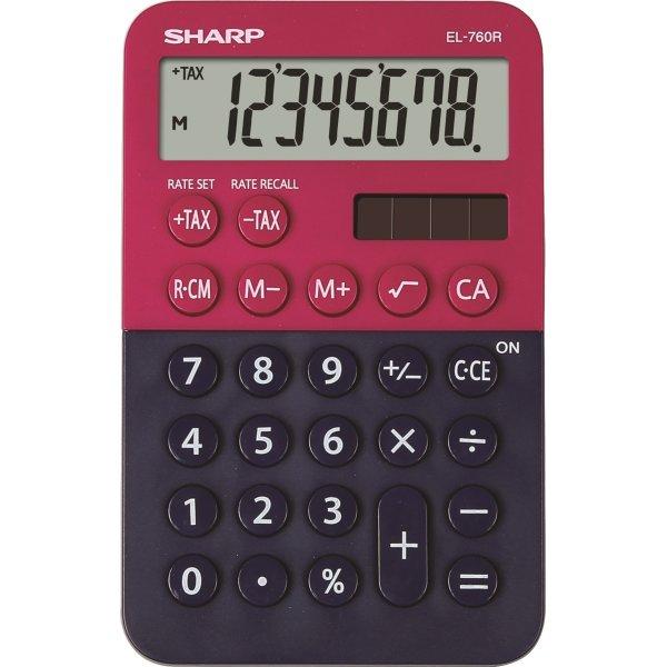 Sharp EL-760R lommeregner, mørkeblå/bordeaux