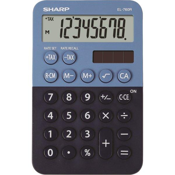 Sharp EL-760R lommeregner, mørkeblå/lyseblå