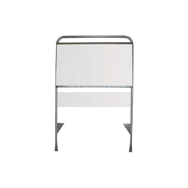 """Skiltplade t/ """"Estate Standard"""", 60x10cm, Hvid"""