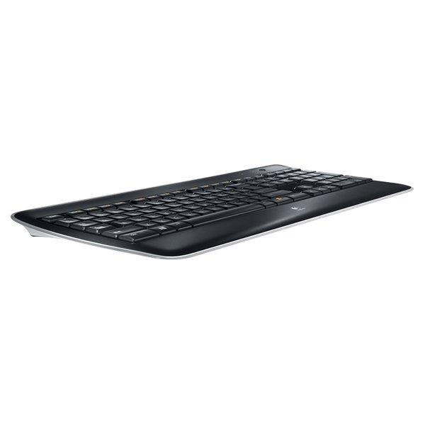 Logitech K800 Illuminated Wireless Keyboard, sort