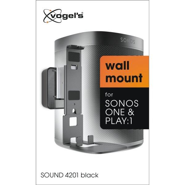 Vogles 4201 Vægbeslag til Sonos P1/One, sort