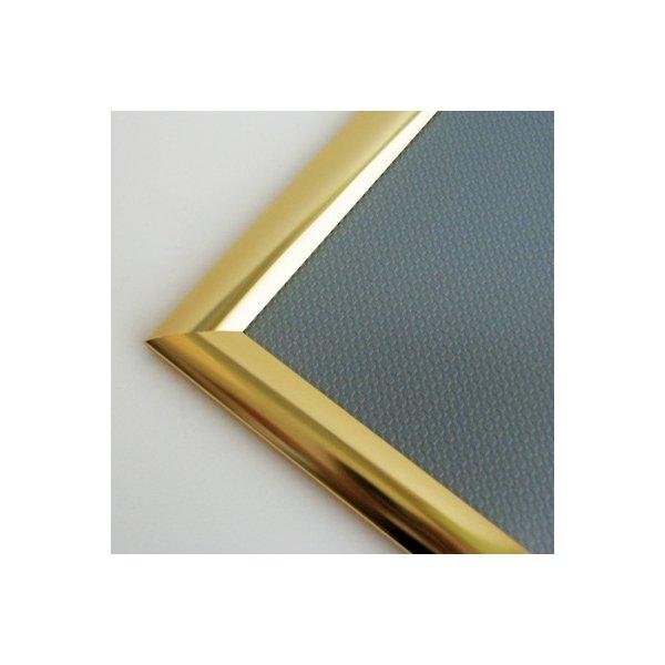 Alu Plakatramme, Snap-frame, 50x70 cm, Blank guld