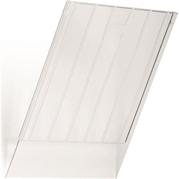 Frontplade flexiboxx lodret transparent