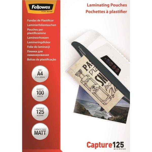 Fellowes A4 Lamineringslommer, 125 mic