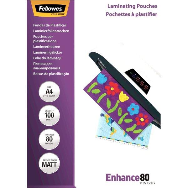 Fellowes A4 Lamineringslommer, 80 mic