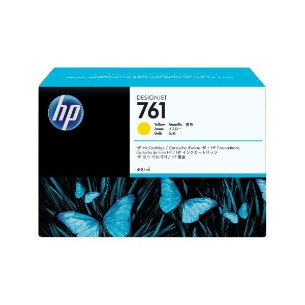 HP CM992A No761 blækpatron, gul, 400 ml