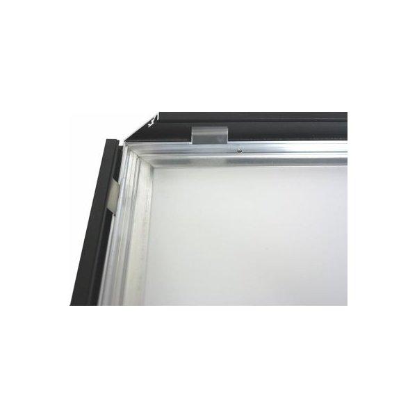 Alu Struktur Plakatramme, Snap-frame, 70x100, Sort