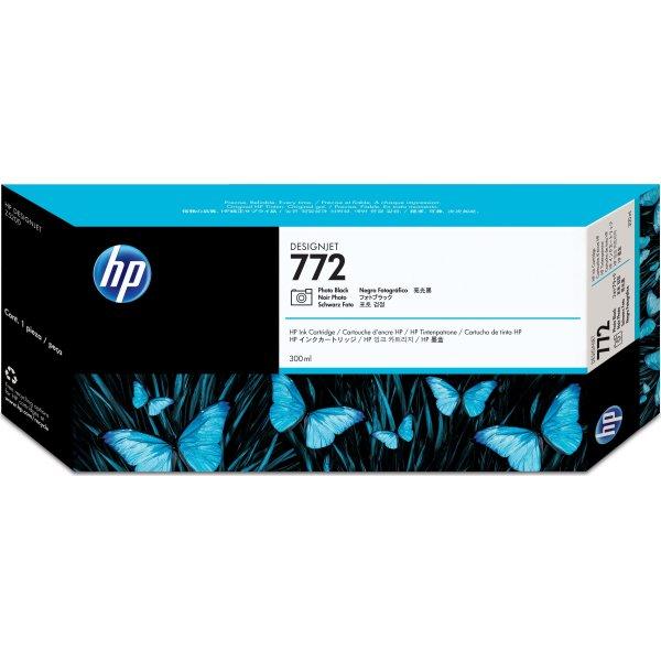 HP No772 blækpatron, fotosort, 300ml