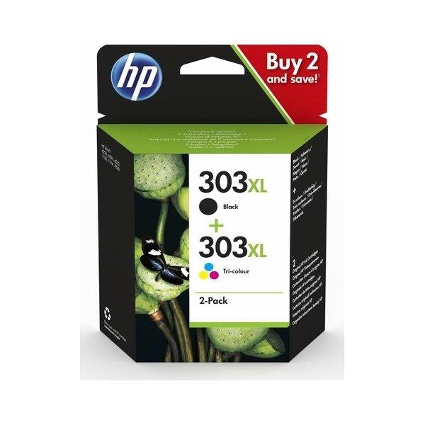 HP Nr. 303 XL Blækpatroner, sampak