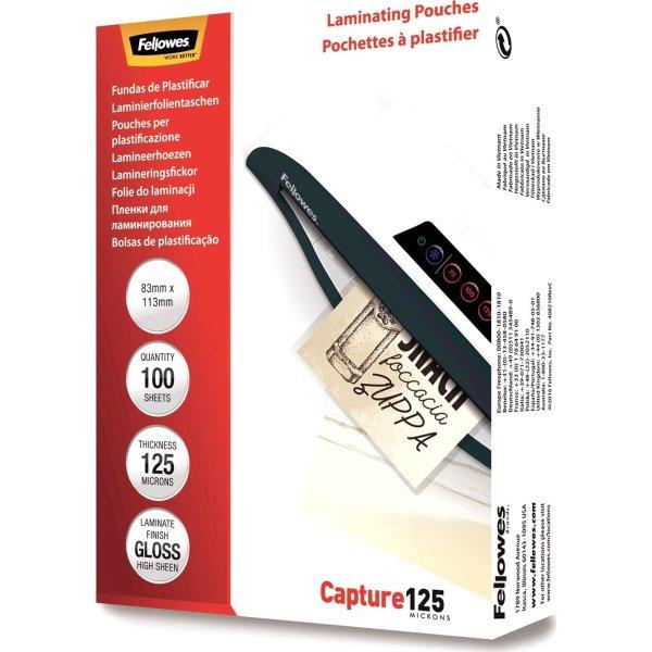 Fellowes Capture 125 mic 83x113mm Lamineringslomme