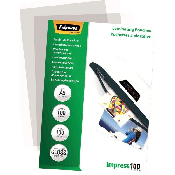 Fellowes Impress 100 mic A5 lamineringslomme gloss