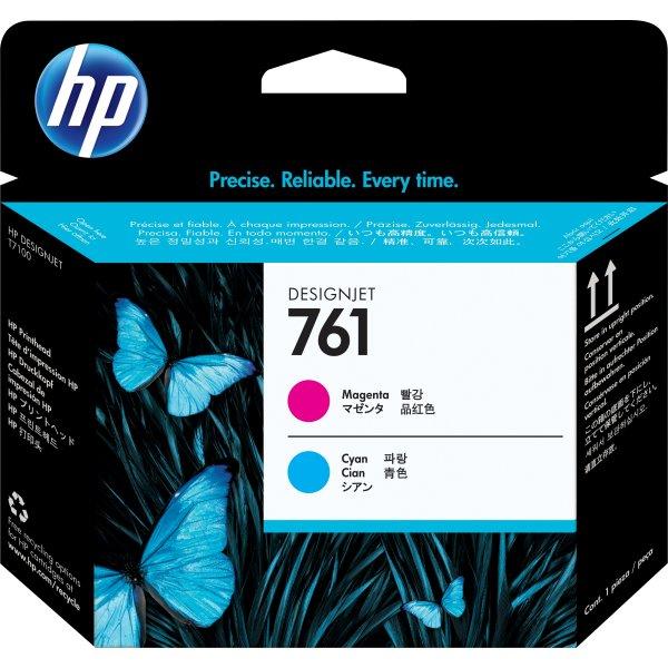 HP No761 printhoved, cyan og magenta