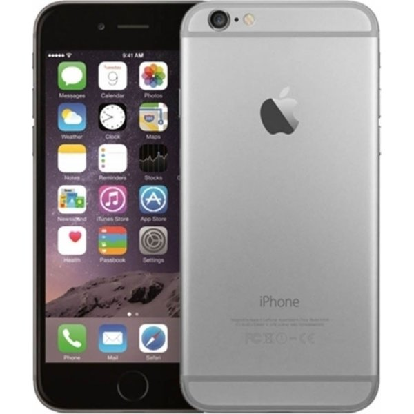 Brugt Apple iPhone 6S, 128GB, Space Grey, (B)
