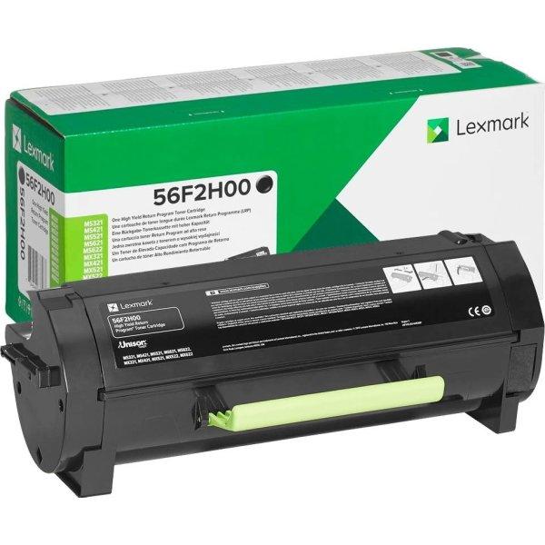 Lexmark 56F2H00 (return) lasertoner, sort, 15000s
