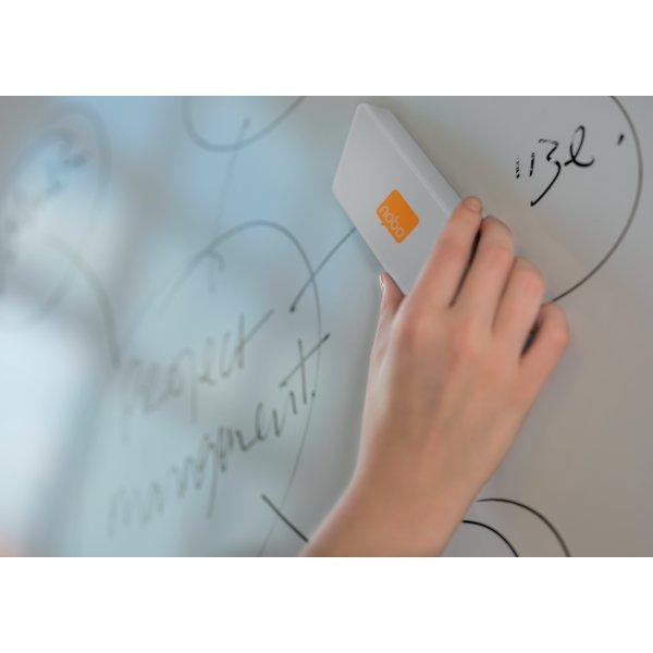 Nobo magnetisk tavlevisker til whiteboard, hvid
