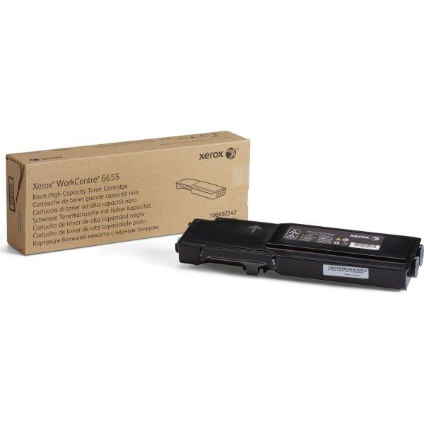 Xerox WC6655 lasertoner, sort, 11000s