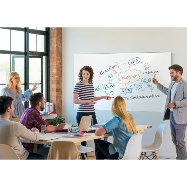 Nobo widescreen hvidt whiteboard – 69,8 x 122,9 cm