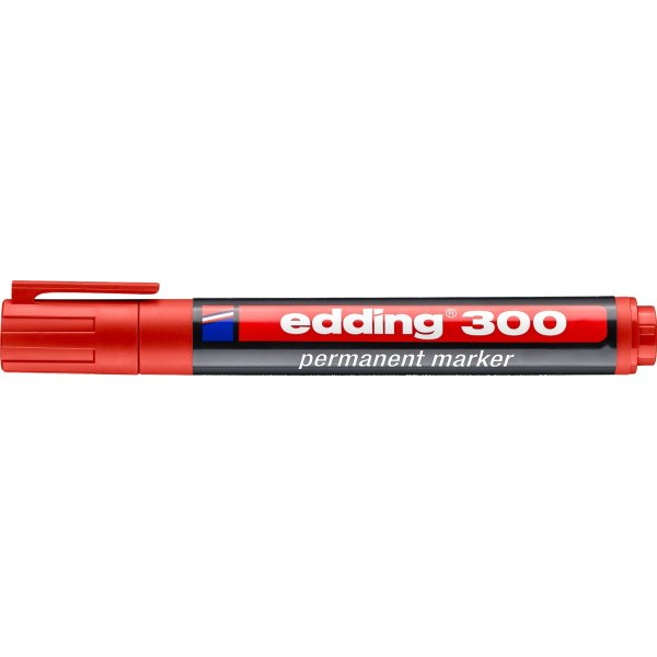 Edding 300 permanent marker, rød