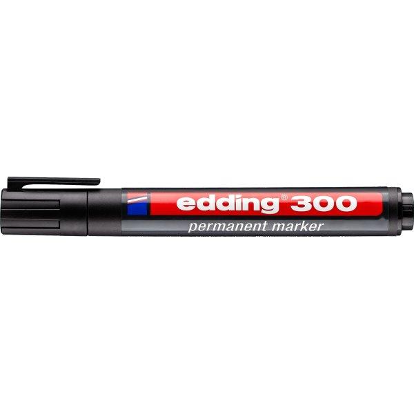 Edding 300 permanent marker, sort