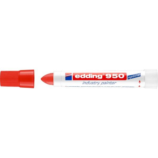 Edding Industrimarker 950, rød
