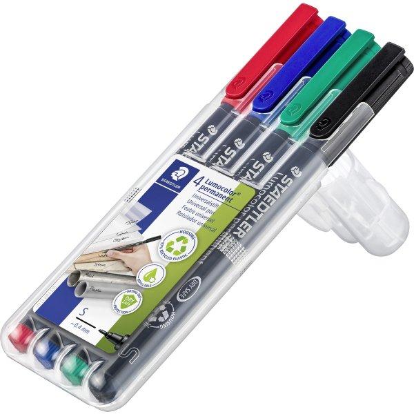 Staedtler Lumocolor universal marker, 0,4mm, 4stk