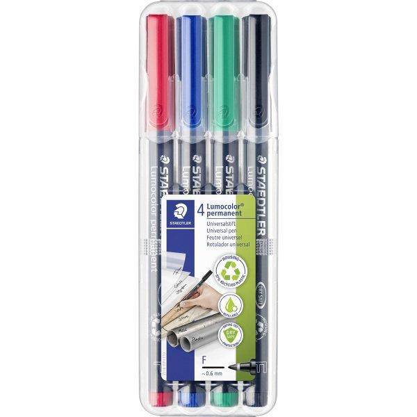 Staedtler Lumocolor universal marker, 0,6mm, 4stk