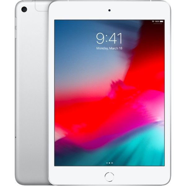 Apple iPad Mini, 64 GB, Wi-Fi + Cellular, Sølv