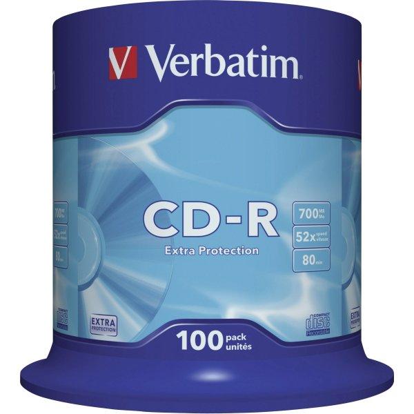 Verbatim CD-R 700mb/80min spindel, 100stk