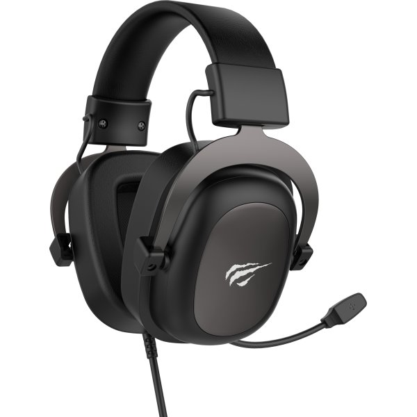 Havit H2002U Gaming Headset, sort/metalgrå