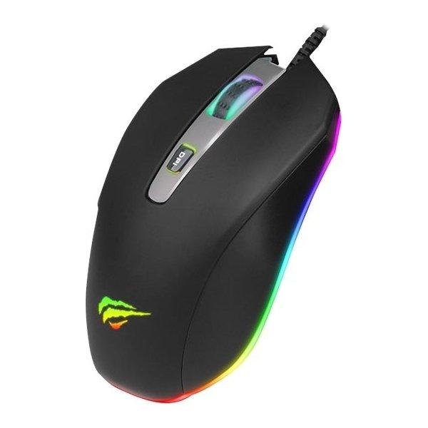 Havit MS837 RGB gaming mus, sort