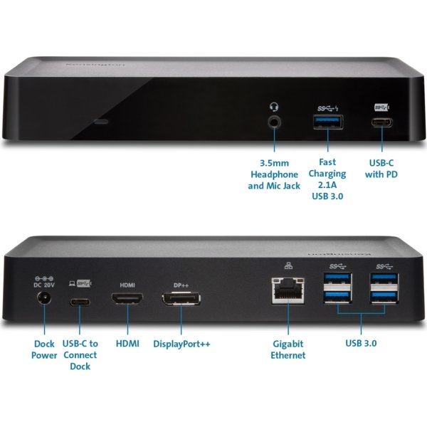 Kensington SD4700P USB-C/USB 3.0 dockingstation