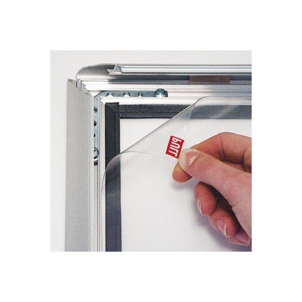 Alu vandtæt plakatramme, Snap-frame, 50x70, Sølv