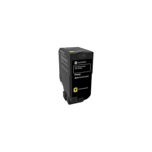 Lexmark CS720 lasertoner (return) gul, 3.000 sider