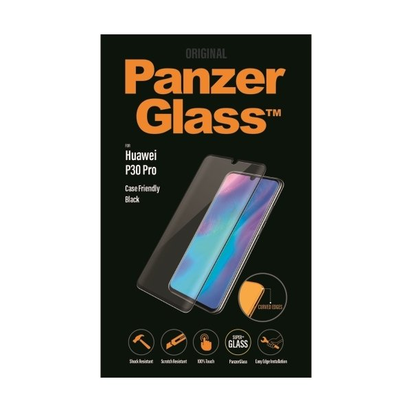 PanzerGlass Huawei P30 Pro, sort (CaseFriendly)
