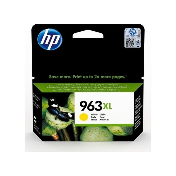 HP nr. 963/3JA29AE#BGX XL blækpatron, gul
