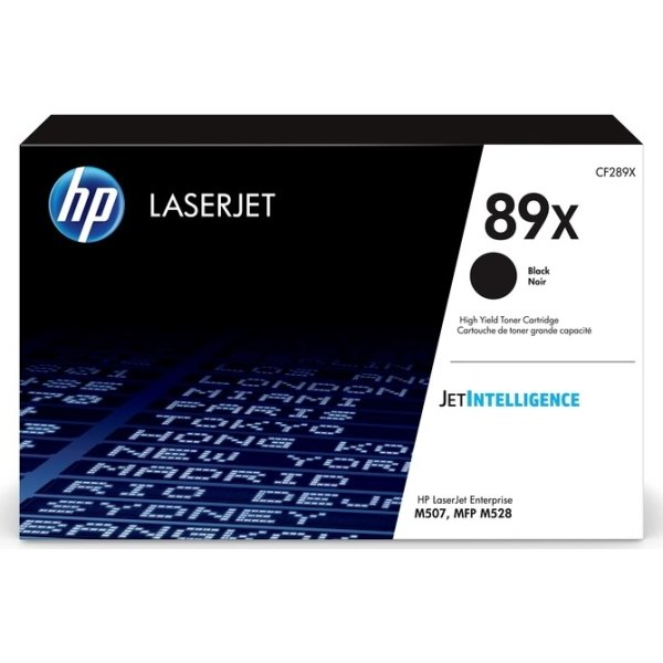 HP LaserJet 89X lasertoner, sort, 10.000 sider